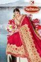 Heavy Border Saree With Embroidered Blouse - Mrinalika