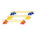 Disk Shape Agility Hurdle Set 6 Inch (set With 2 Disk