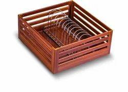 Rose Wood Plate Basket, for Kitchen