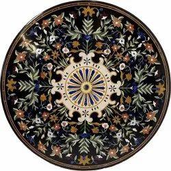Black Marble Beautiful Inlay Table Top