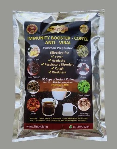 Zingysip Immunity Booster Coffee ( 500 Gm. For 50 Cups)  Alike Kadha With Burnt Sugar