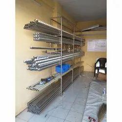 7 - 8 Feet Free Standing Unit General Storage Rack, Material Grade: SS304