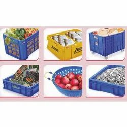 Blue, Mustard Yellow Aristo Plastic Storage Crate, Capacity: 10-30 Kg, For Use For Storage