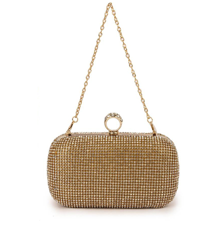 Festive Party Wedding Gold Clutch