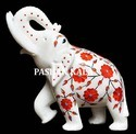 Marble Inlaid Elephant Statue