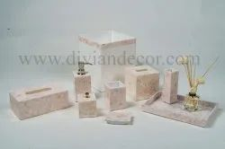 Light Pink Mother of Pearl Bathroom Set