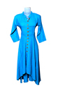 Blue Pain Kurti With 3/4 Sleeves