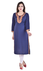 Rayon Slub Zari Embroidered Gown