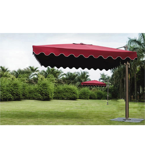 Polyester Red Square Outdoor Umbrella