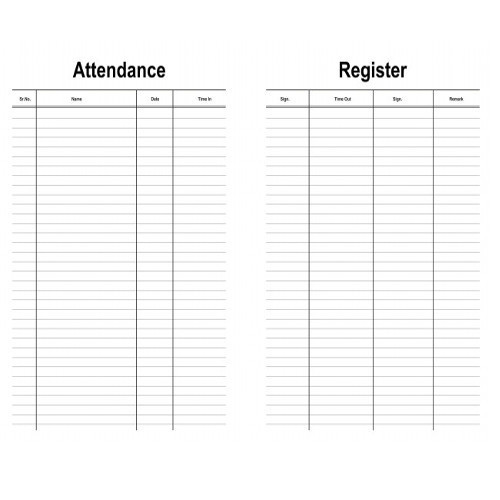 Industrial Register Attendance Registers Manufacturer