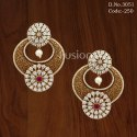 Designer Meenakari CZ Earrings