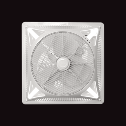White Fanzart Invento LED False Ceiling Recessed Fan
