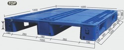 Plastic Aristo Pallets, Dimension/Size: 1200x1000x150 Mm