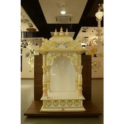 Indoor White Marble Small Temple For