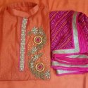 Chanderi Hand Work Suit W-378