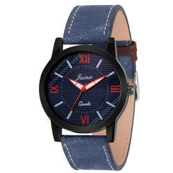 Blue Denim Men Wrist Watch