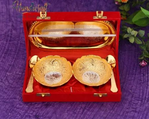 HHIGS001 HHI German Silver Bowl Spoon and Tray Set