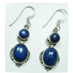 Lapis 925 Sterling Silver Fashion Earrings