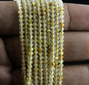 Golden Rutaile Micro Round Faceted Beads