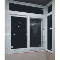 Absolute White L Corner UPVC Window, Glass Thickness: 5 To 20mm