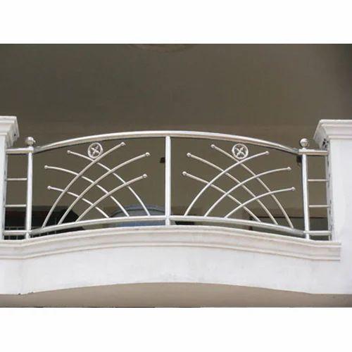 Bar Stainless Steel Designer Balcony Grill, For ...