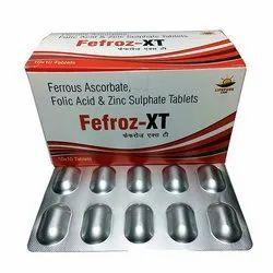 Ferrous Ascorbate Folic Acid and Zinc Sulphate Tablets
