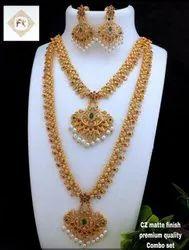 Karishma Kreations Matte Finish Jewellery Set - 100675100