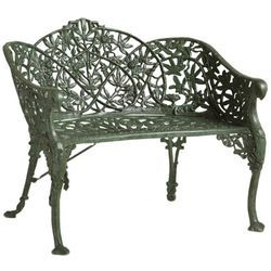 Grey Cast Iron Garden Chair