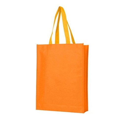 Orange Non Woven Loop Handle Bag