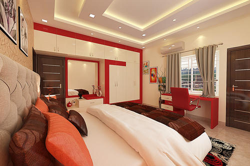 Pink Colour Bedroom Design Images in Koyambedu, Chennai ...