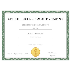 Customized Certificate