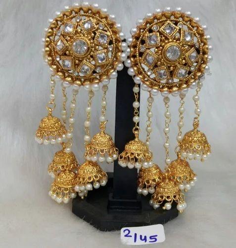 Vardhaman Goodwill Golden Bahubali Earrings