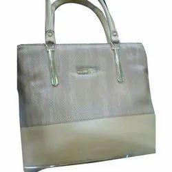 Faisal Raza Pu Leather Ladies Fancy Silver Hand Bag