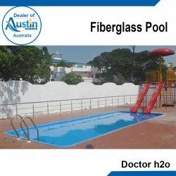 Blue FRP Fiberglass Pool, for Amusement Park