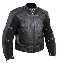 Black Full Sleeve Men Rider Jacket PCRJ0001M