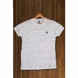 Plain Men 100% Cotton Short Sleeve Round Neck Tshirt