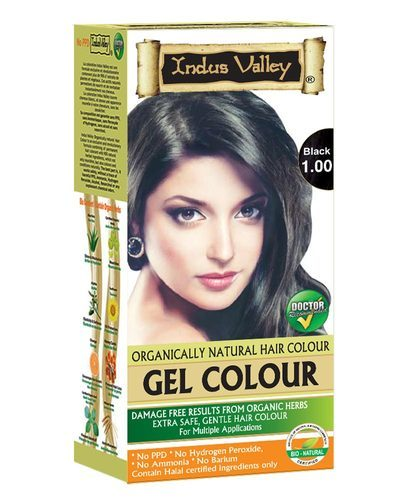 Indus Valley Organically Natural Gel Black Hair Color, For Parlour ...