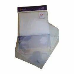PVC Button Plastic L Shape Folders for Office