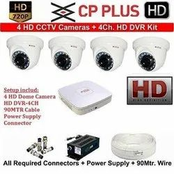 CP Plus CCTV 2.4MP Camera - 4 HD Bundle kit