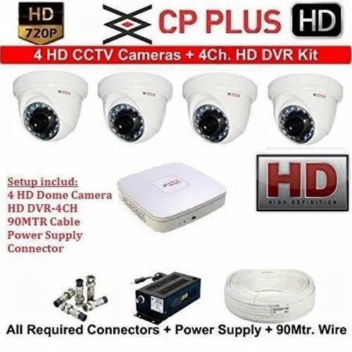 CP Plus CCTV 2.4MP Camera - 4 HD Bundle kit