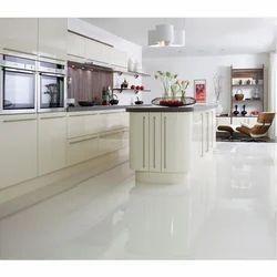White Porcelain Kitchen Floor Tile, 5-15 Mm