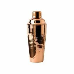 Stainless Steel Deluxe Hammered Copper Plated Party Cocktail Shakers