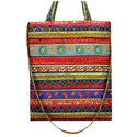 Multicolor Printed Handled Cloth Bag