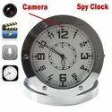 Surya Metallic Round Table Clock Camera, For Security