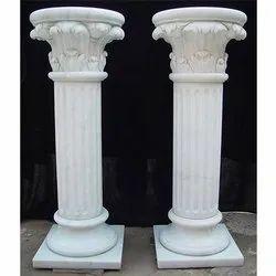 White Marble Pillar
