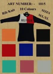 Mens Rib Knit T Shirt