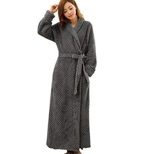 Grey Stylish Cotton Bathrobe b5faf3419