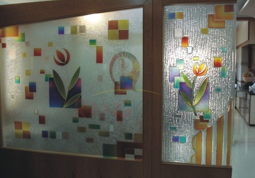 Designer Glass Partition With Fusion Glass At Rs 400 Square Feet Fused Glass Id 14780893988
