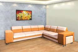 Bold Bella Wooden Repose L Shape 5 Seater Sofa for Home