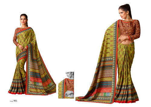 986c3d31d9bb61 Party And Festive Wear Printed SariMall Tussar Silk Sarees